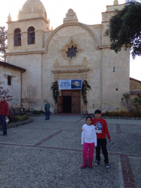 Atom and Marie at San Carlos Mission