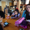 A break at Starbucks in Monterey
