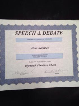 Atom's first scholarship