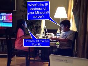 Brother-Sister Minecraft Hackfest