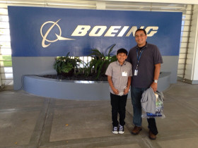 Fun times at Boeing's Bring Your Child to Work Day