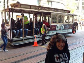 Riding the San Fran cable car