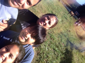Family selfie at Elk Country