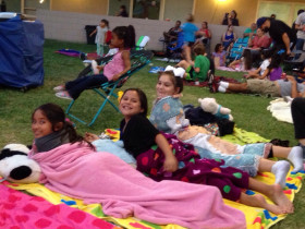 Back to school movie night at PCS
